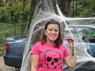 Janell B 100509 halloween themed camping